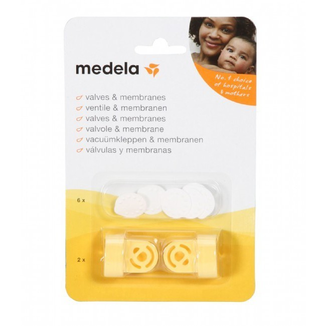 2 valves+ 6 Membranes Replacement Valves and Membranes for Medela Breast Pumps