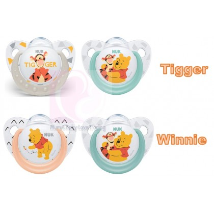 NUK Winnie The Pooh 2pcs Orthodontic Silicone Soother 0-6 Months