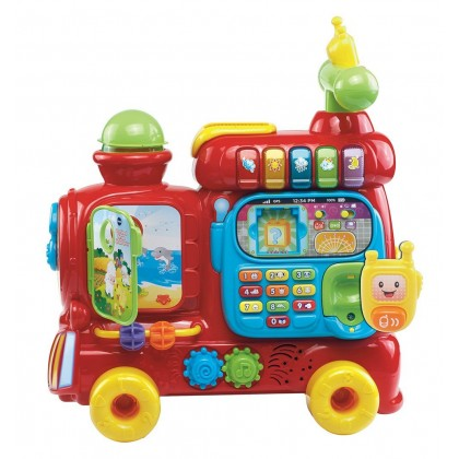 Vtech 4 in 1 Sit To Stand Ultimate Alphabet Train- Ride On Car/ Learning Walker/ Wagon (Red)