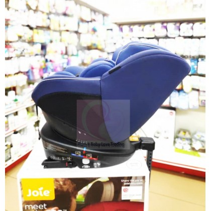 Joie Spin 360 Rotatable Baby Car Seat with Isofix- newborn till 18kg (Two Tone Black/ Navy Blazer Blue/ Ember) + Free Shipping