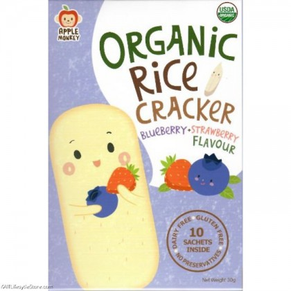 Apple Monkey Organic Rice Cracker