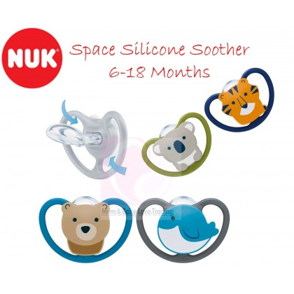 NUK Space Orthodontic Silicone Pacifier (6-18 Months) 2pcs