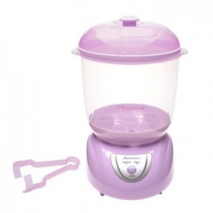 Autumnz 2 in 1 Electric Steriliser & Dryer with Drying Function (Blue/ Lilac) FREE Descaler