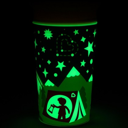 Munchkin Miracle® 360° Glow in The Dark Cup 9oz (Red / Yellow) Free Lid 1pc