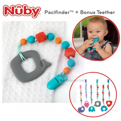 Nuby Pacifinder + Teether (Red / Blue / Pink)