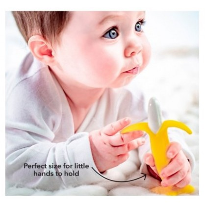Nuby Silicone Banana Toothbrush ( 3 Months+)