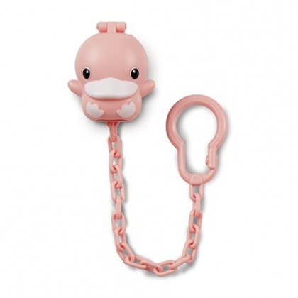 Kuku Pacifier Chain with Case (Blue/Pink) KU5492