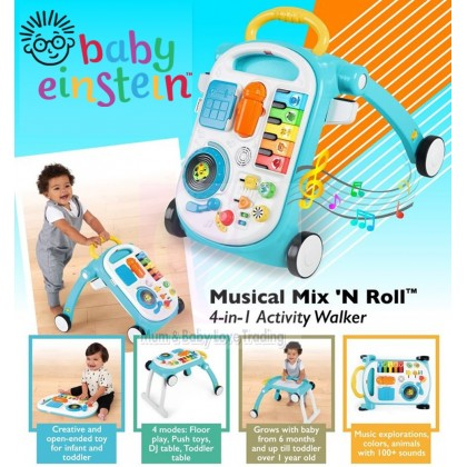 Baby Einstein 4 in 1 Mix & Roll Infant Activity Walker Play Center (6 months+)