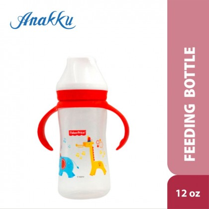 Fisher Price 12oz PP Wide Neck Feeding Bottle with Handle FP-0008 ( Blue / Pink / Red )