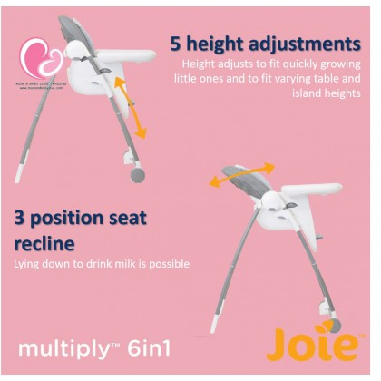 Joie Multiply 6 in 1 Infant High Chair/ Booster Chair/ Play Table (Starry Night/ Dots/ Forever Flower/ Petite City/ Fern)
