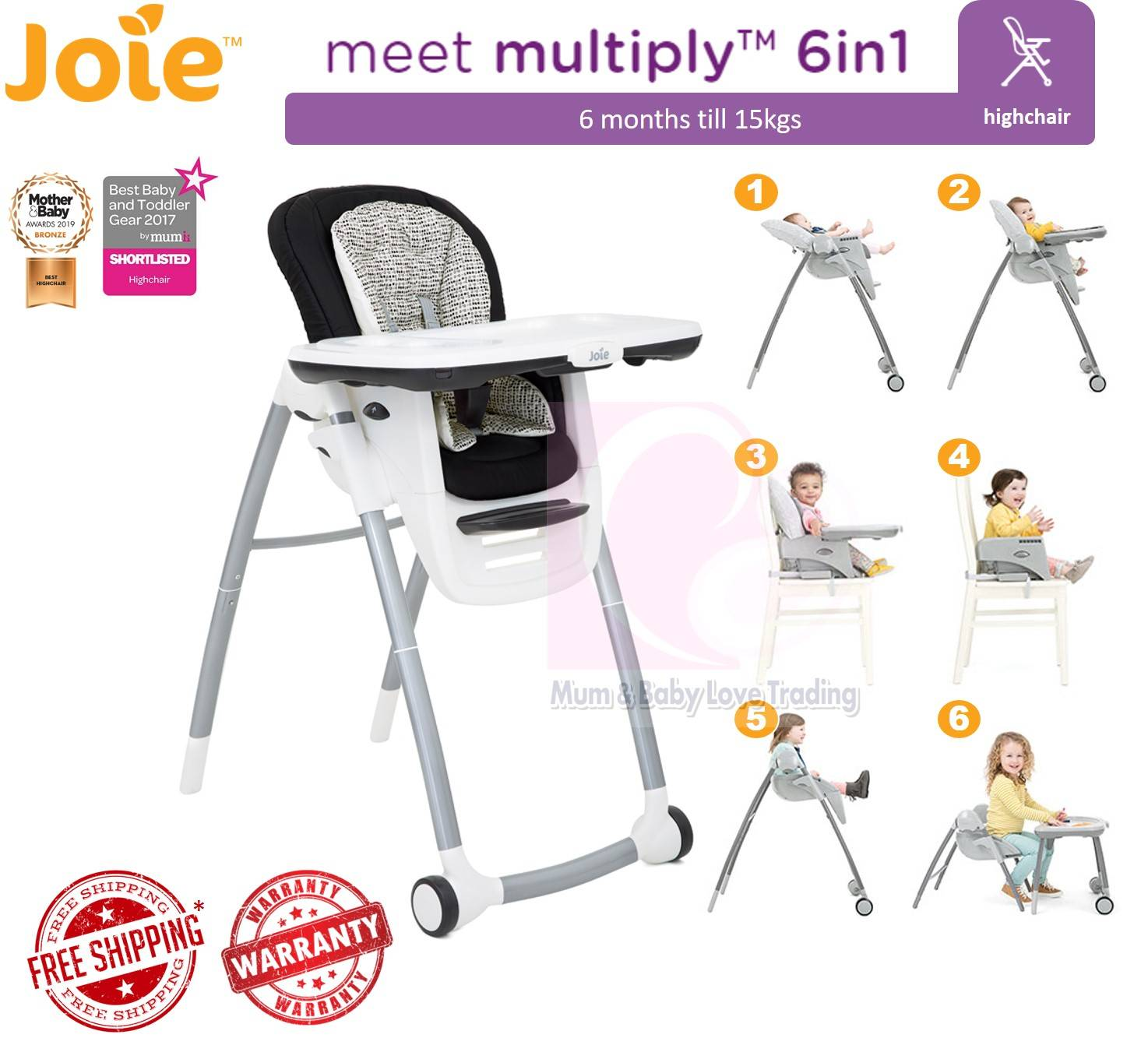 Petite City Joie Multiply Highchair