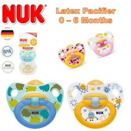 NUK Classic Happy Kids Latex Air Natural Soother 6-18m Size 2